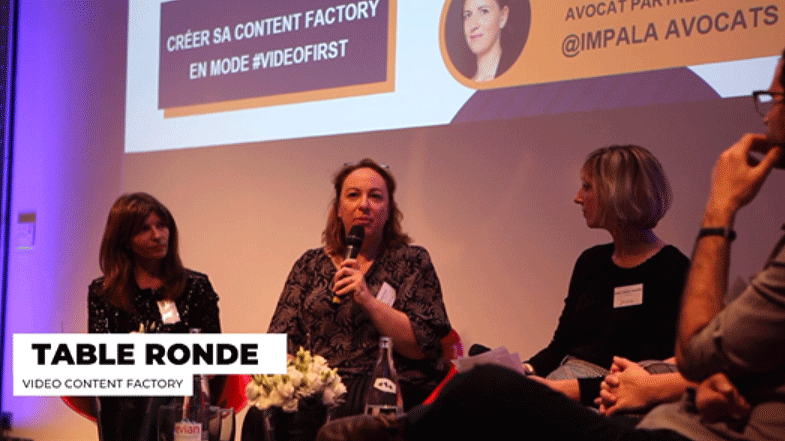 Vidmizer au Grand Prix Social Media 2018, table ronde comment créer une Content Factory